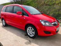 13 Vauxhall Zafira 1.6i 16v VVT Design NAV 20,000 Miles 7 seats