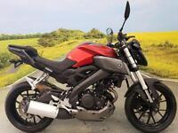 Yamaha MT-125 2015**1607 MILES, 1 FORMER KEEPER, ABS, GEAR INDICATOR**
