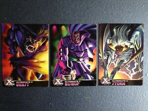 Marvel comics Fleer ultra X-men Alternate X trading cards