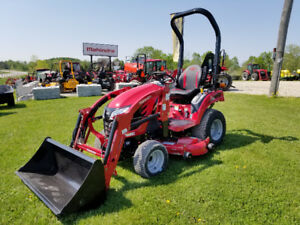 MAHINDRA EMAX 20S HST TRACTOR WITH LOADER, 54IN MID MOUNT MOWER