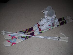 Rossignol skis/bindings/boots/poles