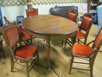 Vintage Table & 6 Chairs STORE CLOSED STOCK CLEAR OUT