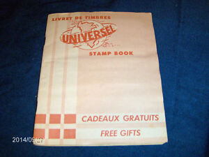 VINTAGE UNIVERSEL STAMP BOOK-960 STAMPS-GROCERY PROMOTIONS!