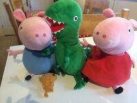 Peppa pig, George and dinosaur teddy bear bundle