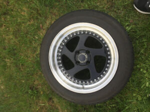 Mags 4x100 16x8pouces avec pneus 205/55/r16
