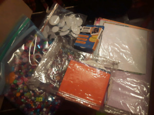 box of craft supplies