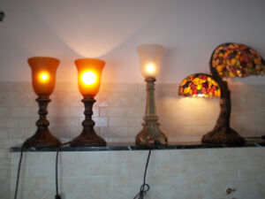 assortet lamps