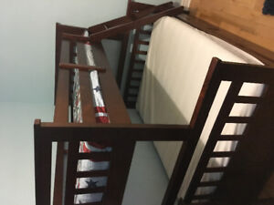 Bunk bed, twin over double. From Costco, excellent condition.