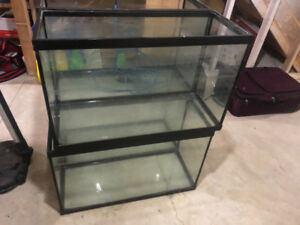 FISH TANKS, FILTERS, PUMPS - ALL MUST GO.