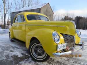 1940 Mercury Eight Coupe with custom built chassis
