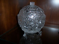 Crystal Bowl with Lid, Large Bowl, Large Pitcher