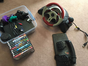 PlayStation 2 + games + accessories