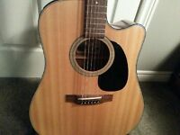 Takamine EF340SC acoustic/electric guitar for sale.