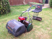 "Webb 24"" Ride On Cylinder Mower Villiers Engine With Roller"