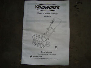 YARDWORKS ELECTRIC SNOW THROWER