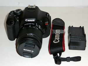 canon t3i with 18-55mm IS II lens and carry bag