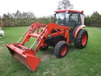 Get ready for winter Kubota L-3430 with cab and loader, low hrs