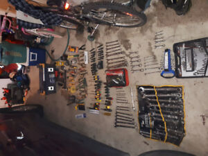 Nail guns wrenches,wire cutters ,cargo net pry bars tons others