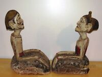 2 statues sculptures antiques indonésiennes style Loro Blonyo Longueuil / South Shore Greater Montréal Preview