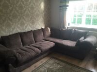 Beautiful Chocolate Brown L Shape Sofa/Couch