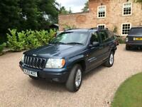 "2002/02 Jeep Grand Cherokee 4.0 Petrol auto "" Limited "" BLUE"