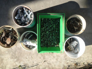Screws, nails, bolts, L-Style Joint Clamps, Shelving Brackets