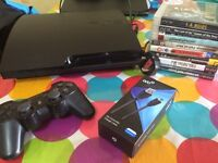 PS3 and six games, controller and charger cable (3m)
