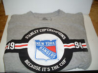 New York Rangers / Molson Canadian Stanley Cup Grey T-Shirt *NEW