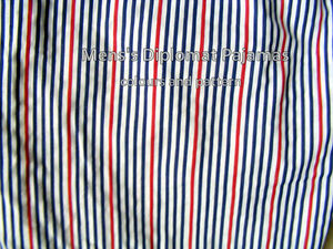 Men's  DIPLOMAT Pajamas XL, multi-striped,like new, short sleeve
