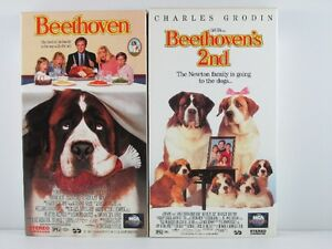 Beethoven 1 & 2 VHS Movies in Like New Condition