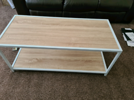 Wooden Coffee Table metal frame