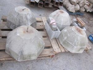 """Decorative Concrete Bases - 8 sided - 2' bottom - 12"""" top London Ontario image 3"""