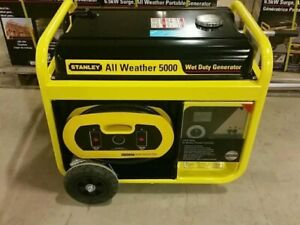 STANLEY 6.5KW GAS ALL WEATHER GAS GENERATOR