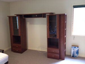 Oak Entertainment Cabinets