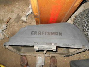 Craftsman bagger system for garden tractor riding lawnmower