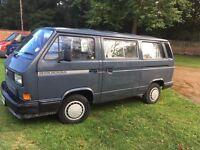 Vw camper van Devon micro bus 1989