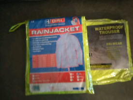 Brand new waterproof coat and trousers