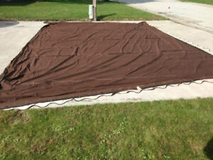 Sunbrella True Brown fabric