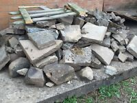 FREE Rockery stones & broken slab pieces