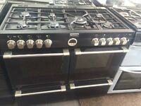 Black stove 100cm seven burners gas cooker grill & double oven good condition with guarantee