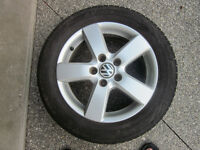 VW ALLOY RIMS WITH TIRES SET OF 4 , 205x55x16
