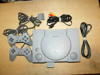 Original Sony Playstation With 2 Controllers and Memory Card