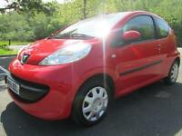 05/55 PEUGEOT 107 URBAN 3DR HATCH IN RED WITH SERVICE HISTORY
