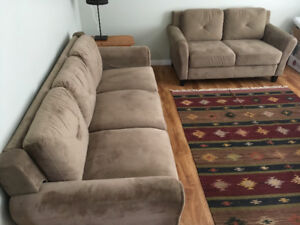 Brand new set of sofa and loveseat