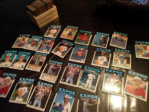 Montreal Expos. Topps. 1986 cards. 200+ cards