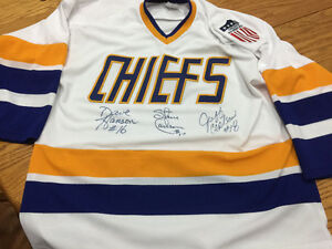 Signed Hanson brothers jersey