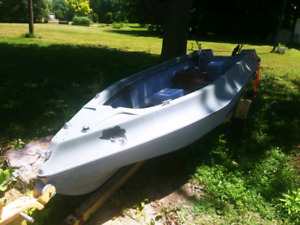 15.5 ft boat and trailer