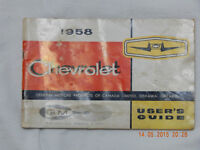 1958 Chev Owners Manual