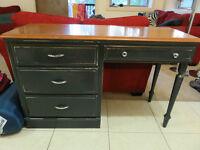 Solid Wood, Blue Desk