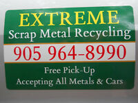 EXTREME Scrap Metal Recycling/100 Free Pick-Up